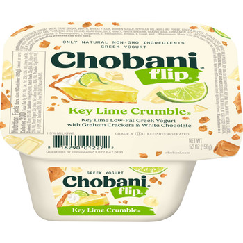 Chobani Flip Low-Fat Greek Yogurt, Key Lime Crumble, 5.3 Oz Cup (12 Count)