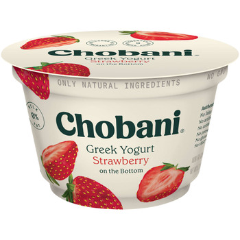 Chobani Nonfat Strawberry Yogurt, 5.3 Ounces - 12 per Case