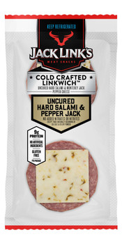 Jack Link's, Beef And Pork Hard Salami And Pepper Jack Cheese, 1.5 oz. (16 Count)
