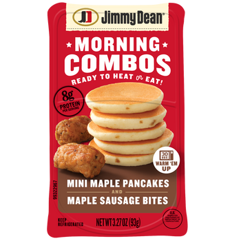 Jimmy Dean, Morning Combos, Mini Maple Pancakes and Maple Sausage Bites, 3.52 oz. (8 Count)