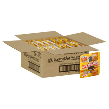 Lunchables, Ham & American Cracker Stackers with Oreo Cookies, 3.4 Oz Pack (16 Count)