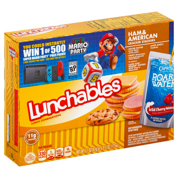 Lunchables, Ham & American Cheese with Capri Sun & Chips Ahoy, 9.1 Oz Box (8 Count)