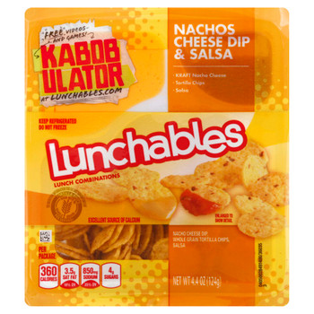 Lunchables, Nachos, Cheese Dip & Salsa, 4.4 Oz Pack (16 Count)