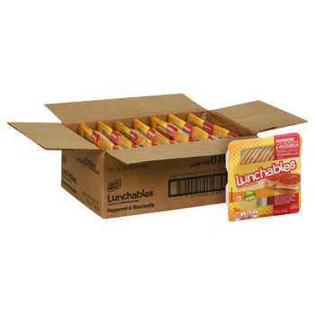 Lunchables, Pepperoni & Mozzarella, 2.25 Oz Pack (16 Count)