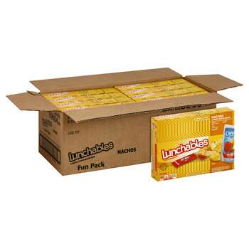Lunchables Single Serve, Nachos Cheese Dip & Salsa, Capri Sun & Kit Kat, 10.7 Oz Box (8 Count)