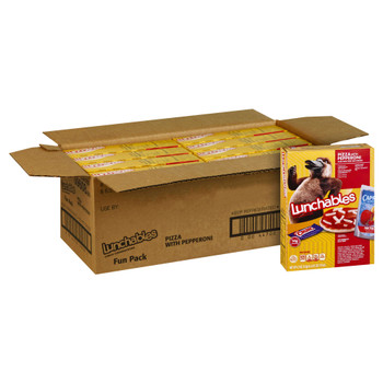 Lunchables Single Serve, Pepperoni Pizza with Capri Sun & Nestle Crunch, 10.7 Oz Box (8 Count)