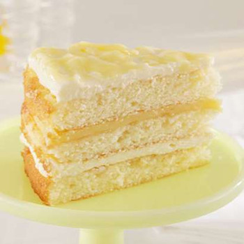 3 Layer Iced Lemonade with Lemon Curd Cake
