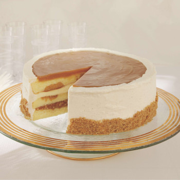 3-Layer Salted Caramel Vanilla Crunch Cake