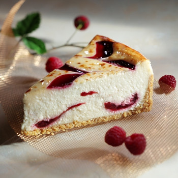 White Chocolate with Raspberry Cheesecake