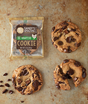 Sandy's Amazing Chocolate Chunk Manifesto Cookies Individually Wrapped (Case)
