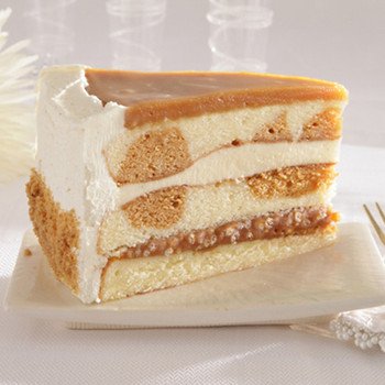 3-Layer Salted Caramel Vanilla Crunch Cake (Case)