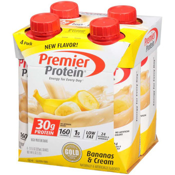 Premier Protein, Bananas & Cream Shake, 11 oz. (12 Count)