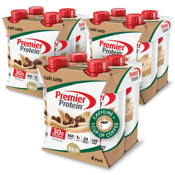 Premier Protein, Cafe Latte Shake, 11 oz. (12 Count)
