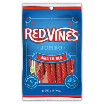 Red Vines, Original Red Licorice Jumbo Twists, 8 oz. (12 Count)