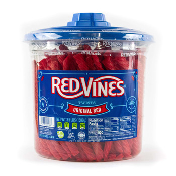 Red Vines, Original Red Licorice Jumbo Twists, 3.lb. (4 Count)