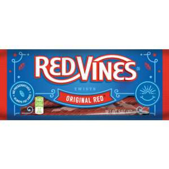 Red Vines, Original Red Licorice Jumbo Twists, 5 oz. (12 Count)