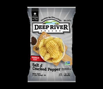 Deep River Snacks, Salt & Cracked Pepper Kettle Chips, 2 oz. (24 Count)