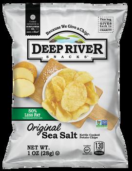 Deep River Snacks, Original Sea Salt Kettle Chips, 1 oz. (80 Count)