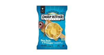 Deep River Snacks, Sea Salt & Vinegar Kettle Chips, 1.375 oz. (48 Count)
