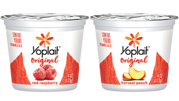 Yoplait, Low Fat Variety Pack, 24 Red Raspberry / 24 Harvest Peach, 4 oz. (48 Count)