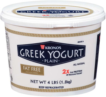 Kronos, NON-FST Gluten Free NON-GMO Greek Yogurt, 4 lb. (2 Count)