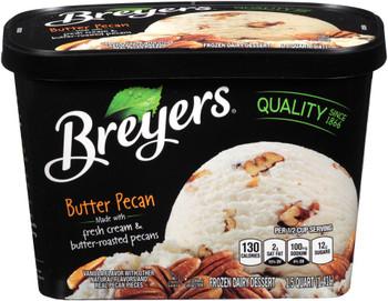 Breyer's, Butter Pecan Ice Cream, 48 oz. (1 Count)