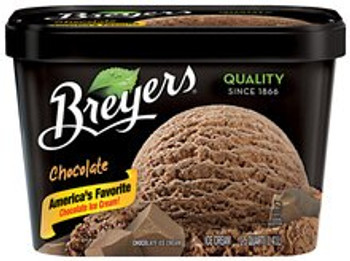 Breyer's, Chocolate Ice Cream, 48 oz. (1 Count)
