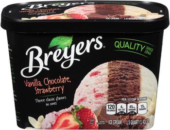 Breyer's, Neopolitan Ice Cream, 48 oz. (1 Count)