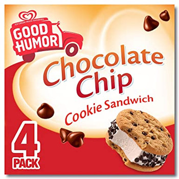 Good Humor, Chocolate Chip Cookie Sandwich, 4 oz. (4 Count)
