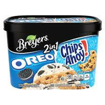 Breyer's, 2 IN 1 OREO & CHIPS AHOY, 48 oz. (1 Count)