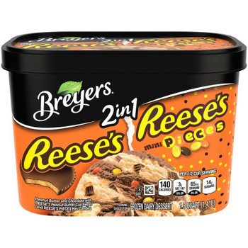 Breyer's 2IN1 REESE PB CUPS, 48 oz. (1 Count)