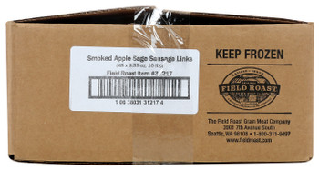 Field Roast, Plant Based & Vegetarian Apple Sage Sausage, 3.33 oz. (48 Count)