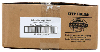 Field Roast, Plant Based & Vegetarian Italian Sausage, 3.33 oz. (48 Count)