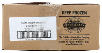 Field Roast, Plant Based & Vegetarian Apple Maple Breakfast Links, 9 lb. (1 Count)