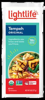 Lightlife, Plant Based, Vegetarian, Gluten Free & Kosher Soy Tempeh, 8 oz. (12 count)