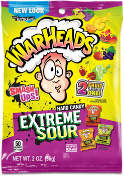 Warheads, Extreme Sour Hard Candy, Smashups, 2 oz. (12 Count)