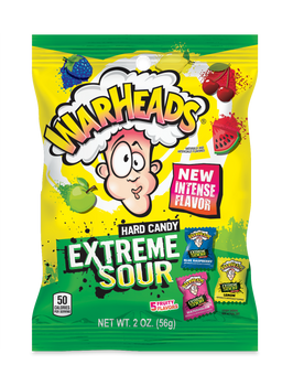 Warheads, Extreme Sour Hard Candy, 2 oz. (12 Count)