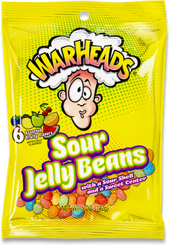 Warheads, Sour Jelly Beans, 3.25 oz. (12 Count)