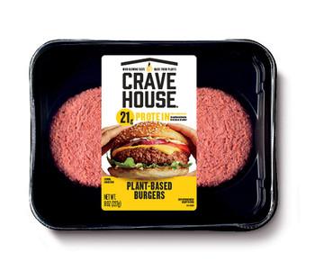 Crave House, Plant Based Burger Patties, 8 oz. (6 Count)