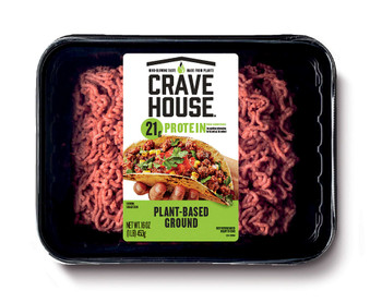 Crave House, Plant Based Ground Loaf, 1 lb. (6 Count)