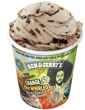 Ben & Jerry's, Non Dairy, Colin Kaepernick's Change the Whirled, Pint (1 count)