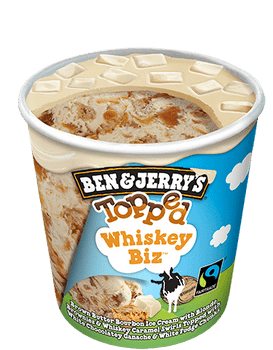 Ben & Jerry's, Topped Whiskey Biz Ice Cream, Pint (1 count)