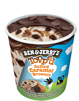 Ben & Jerry's, Topped Salted Caramel Brownie Ice Cream, Pint (1 count)
