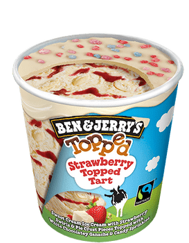 Ben & Jerry's, Topped Strawberry Tart Ice Cream, Pint (1 count)