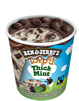 Ben & Jerry's, Topped Thick Mint Ice Cream, Pint (1 count)