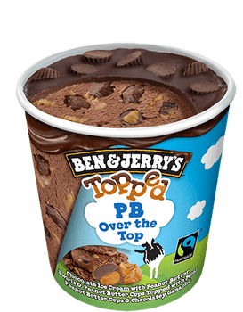 Ben & Jerry's, Topped PB Over the Top Ice Cream, Pint (1 count)