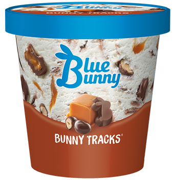 Blue Bunny, Bunny Tracks Ice Cream, pint (1 count)