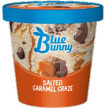 Blue Bunny, Salted Caramel Craze Ice Cream, pint (1 count)