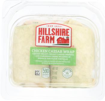 Hillshire Farm, Chicken Caesar Wrap, 7.7 oz. (12 Count)