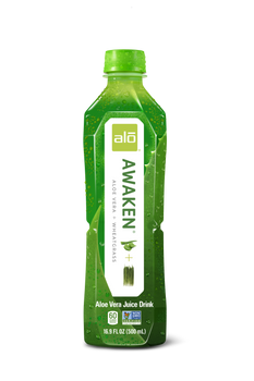 Alo Drink, Awaken Aloe & Wheatgrass, 16.9 oz. (12 Count)